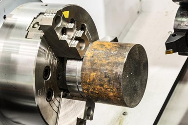 A photo of one of Dillon's application chucks gripping a workpiece