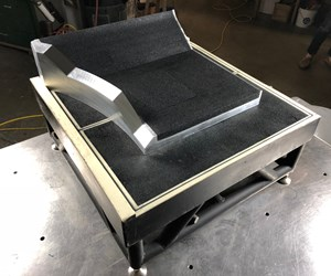 At Technical Tooling's facility, a recently manufactured VacuGrip fixture sits atop a base fixture incorporating the same material.