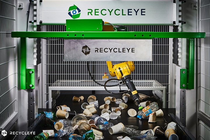 Fanuc Recycleye Collaborate for AI waste sorter