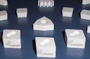 White ceramic inserts for cast iron and high temperature alloys