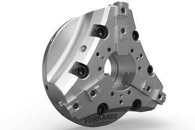 A press image of Forkardt and Hardinge's FNC+ Quick Jaw Change Power Chuck
