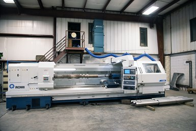 A photo of the Romi C 830 on TPEI's shop floor