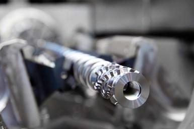 A photo of a plasticizing screw