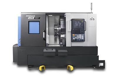 A press image of Doosan Machine Tools' Lynx 2600SY, its latest Y-axis compact turning center