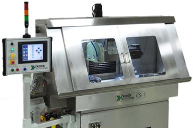 A press photo of one of Glebar's CS1 Cutoff Machines