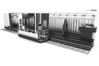 A press image of Geminis' GT11i multitasking CNC lathe