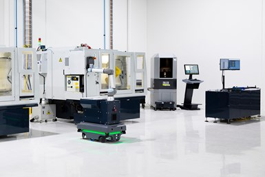 A press photo with all Anca's AIMS devices on a shop floor