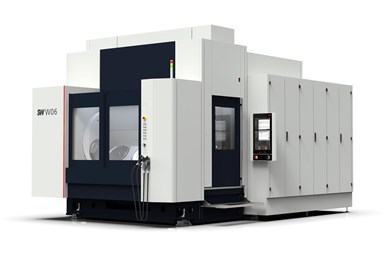A press photo of the latest version of SW's BA W06 horizontal machining center