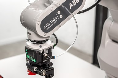 A photo of ABB's Swifti cobot, one of the new collaborative robots joining its portfolio