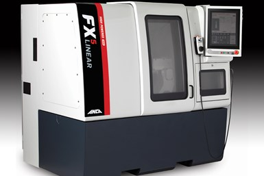 A press photo of Anca's FX5 Linear, specifically the model with the high-powered 19kW spindle