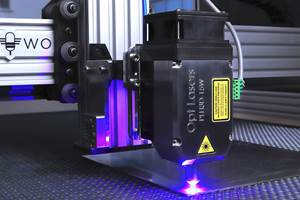 Opt Lasers' PLH3D-15W Blue-Laser Head Boosts Efficiency