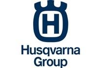 The logo of the Husqvarna Group, a Swedish company buying Blastrac