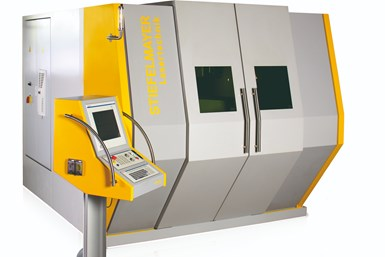 A rendering of one of Stiefelmayer's laser machines