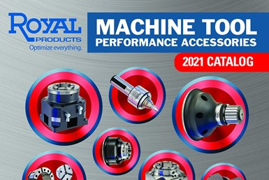 A partial screenshot of the cover of Royal Products' 2021 Machine Tool Performance Accessories catalog