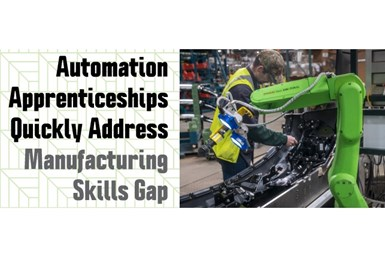 A flyer advertising FANUC and Rockwell Automation's partnership to create more automation and robotics apprenticeships