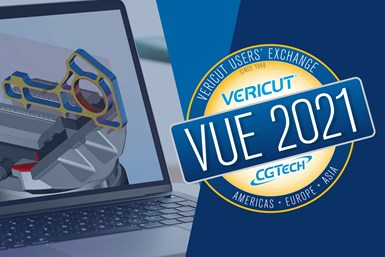 A promotional poster for VUE 2021, the Vericut User's Exchange