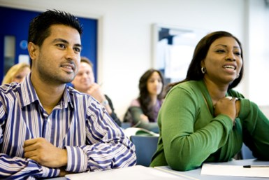 A stock photo of adult students
