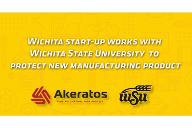 A banner image announcing the partnership between Wichita State University and Akeratos to file a patent on the Uplift Levi-Load