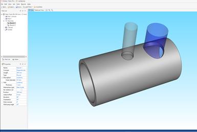 A screenshot of Hypertherm Rotary Tube Pro 3