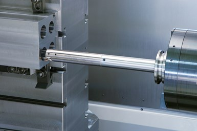 A photo of Big Kaiser's new, small size of EWN Smart Damper precision boring head at work
