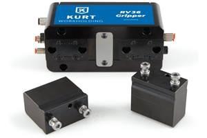 Kurt's RV36 Robotic Gripper Automatically Changes Fingers