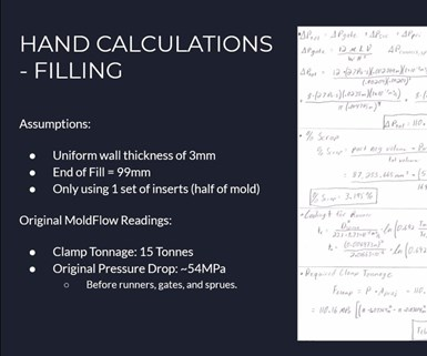 slide with calculations