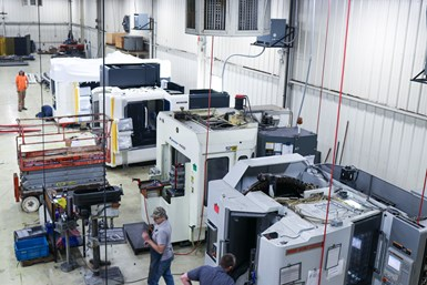 A photo of the shop floor at one of B-Square Precision Group's companies
