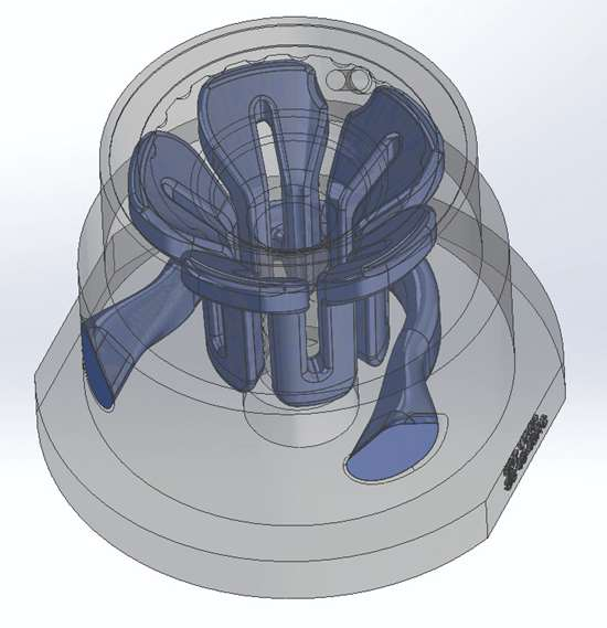 mold core insert cad image