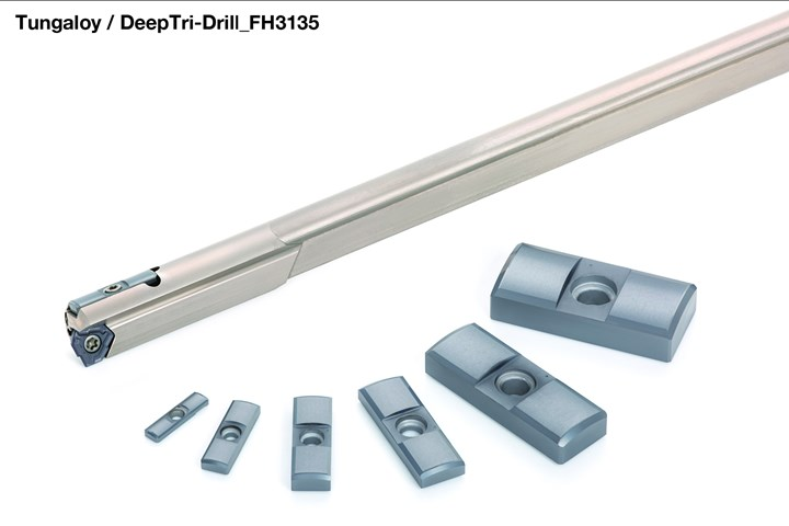 Tungaloy Deep Drilling tools with guide pads