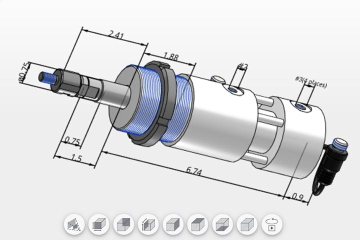 PFA parametric CAD models offered for all hydraulic locking cylinder