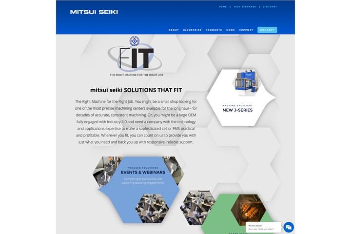 New Mitsui Seiki U.S. interactive website