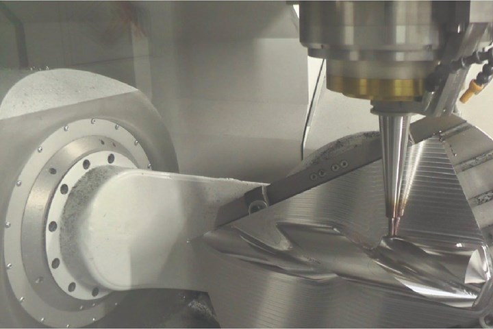 five axis machining a mold