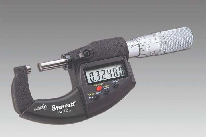 L.S. Starrett's new electronic micrometer tool