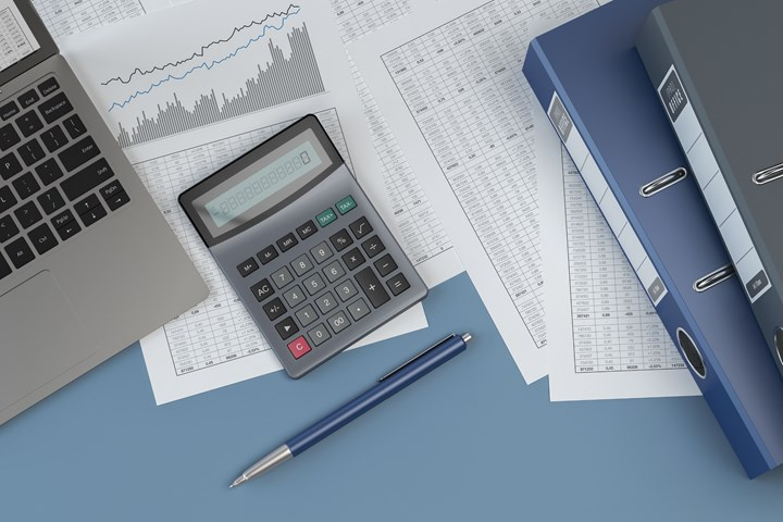 Stock image of tax work.