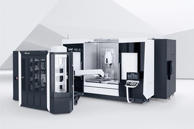A photo of the DMF 200|8 traveling column machine from DMG MORI