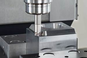 Switching from Solid Carbide to Indexable Tooling Permits Lights Out Mold Base Manufacturing