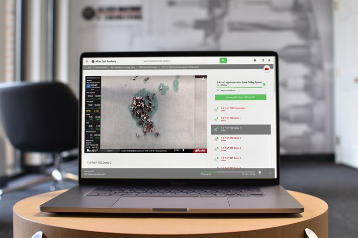 Allied Tool Academy online program.