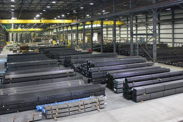 Alro Steel Toledo expanded warehouse.