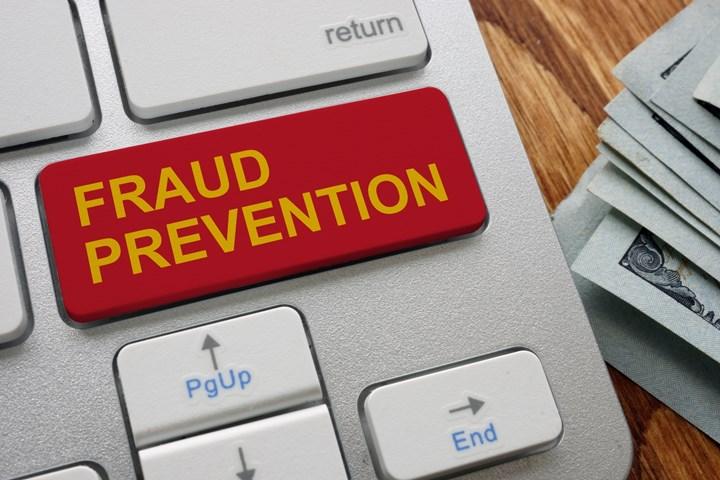 Fraud prevention stock image