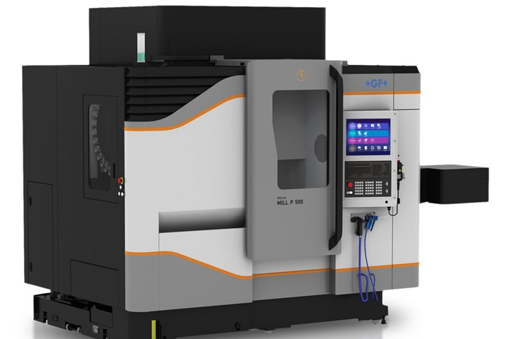 GF Machining Solutions MILL P 500 three-axis vertical milling machine.