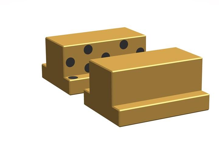 SelfLube aluminum bronze T-slides.