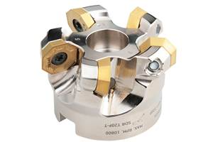 Face Milling Stainless Steel Cutters, Inserts Deliver Eight Cutting Edges