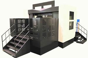 Five-Axis Horizontal Machining Center Executes Highly Rigid, Accurate Performance