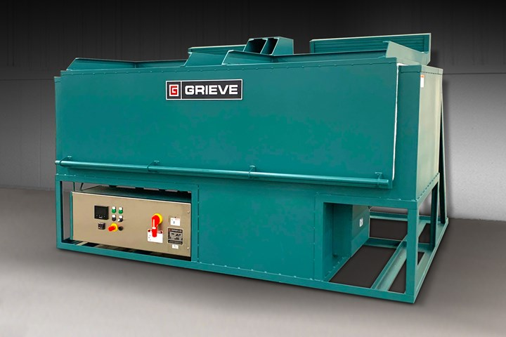 Grieve top-loading, electrically heated oven.