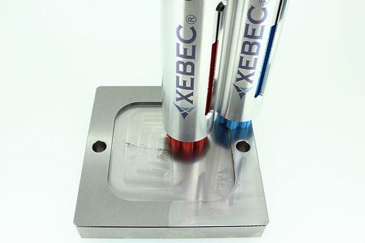 Xebec ceramic fiber brushes for deburring.