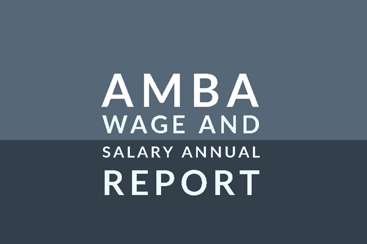AMBA 2020/2021 wage and salary report cover.