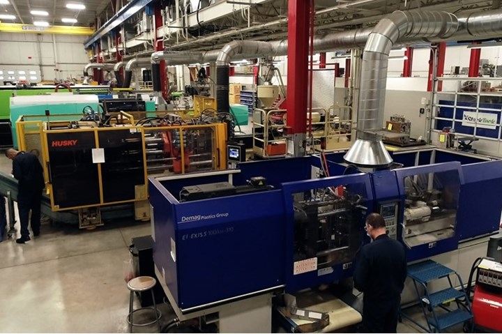 High-performance injection molding machines at TeckCenter.