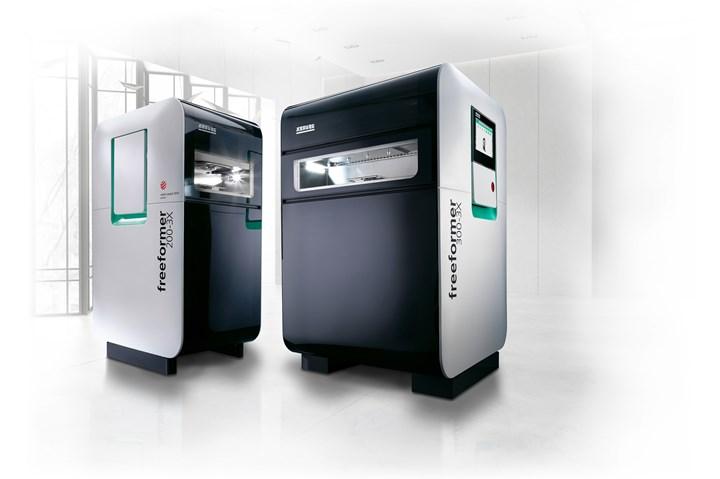 Arburg Freeformer open system.
