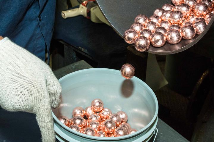 Bolas de ánodo de cobre