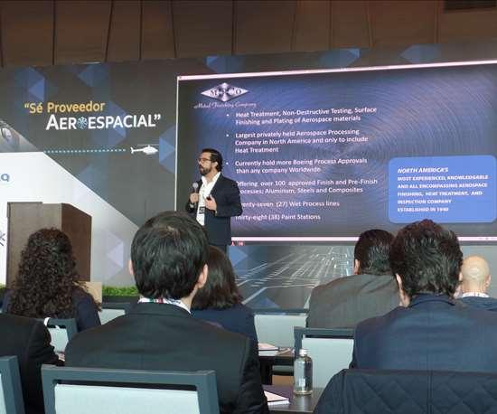 René Espinosa, presidente del Clúster Aeroespacial de Chihuahua.